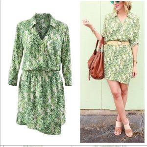 CAbi green palm tree leaves dress style #289 cute!